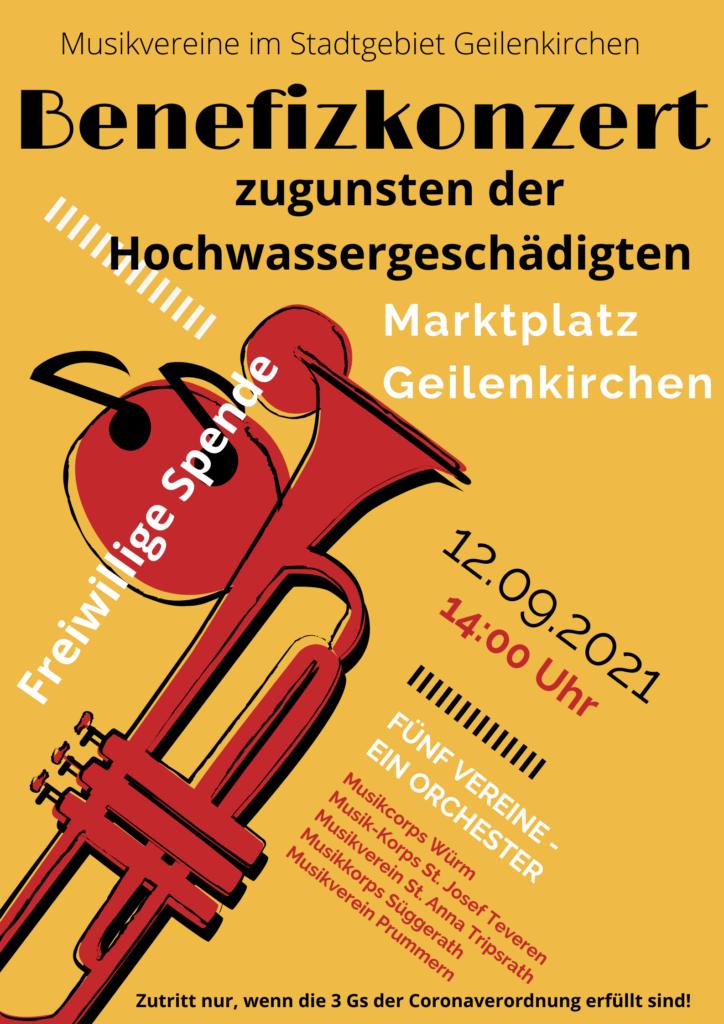 Plakat_Benefizkonzert_Musikvereine_Geilenkirchen 2021